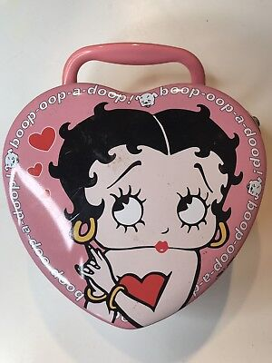 Betty Boop Pink Heart Shaped TIN Lunch Box