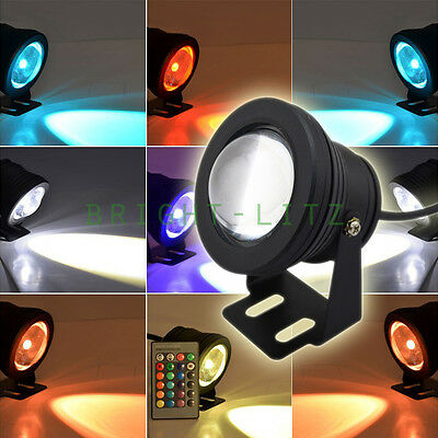 Submersible Waterproof 12V LED RGB Garden Outdoor Pond Pool Fountain Lamp Remote