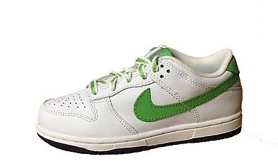 superior quality 68cd0 30e58 Nike Dunk Low  05 (GS) Kids Leather Shoes Sneakers White Green Bean