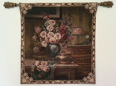 Italian Tapestry . Stunning Wall Tapestry . Roses in Ambiente . BERWICK