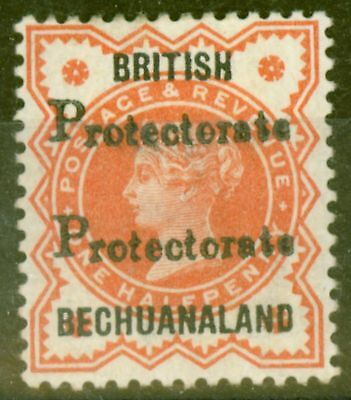 Bechuanaland 1888 1/2d Vermilion SG40a Protectorate Double Fine Very Lightly Mtd