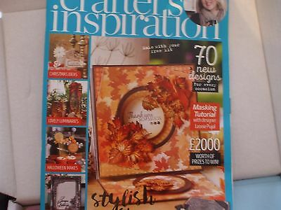 crafters inspiration magazine issue 11 complete with free die/stamps/folder/cd +