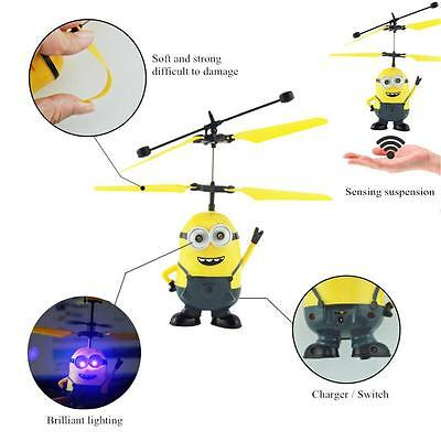 Helicopter Flying Induction Despicable Me Drone Light Aircraft Kids Toy DTUS