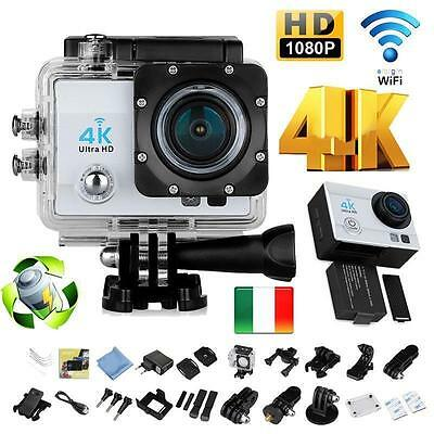 Pro Cam 4K SPORT WIFI ACTION CAMERA ULTRA HD VIDEOCAMERA SUBACQUEA 12MP WIRELESS