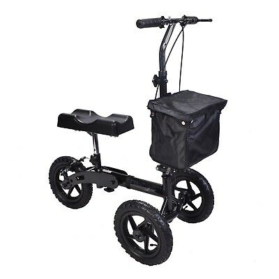All terrain outdoor Knee walker with brakes, adjustable handle & pneumatic tyres
