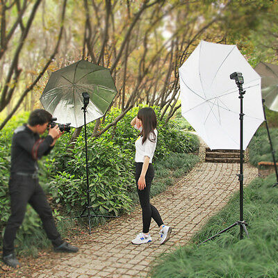 Studio Speedlite Flash Umbrella Light Lighting Stand+2 Bracket B Photography Kit