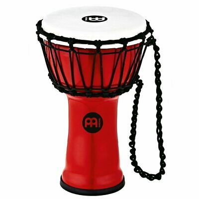 """Meinl Percussion JRD-R Synthetic Compact Junior Djembe, 7"""" Diameter, Red"""