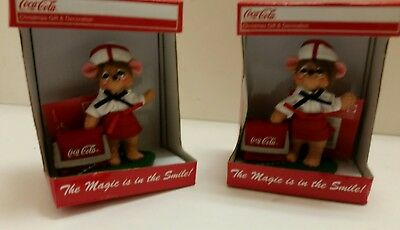 Lot of 2 Coca Cola Annalee Christmas Decorations New In Box