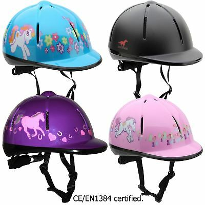 Red Horse  Junior Rider Breathable Riding Event Equestrian Kids Safety Helmet