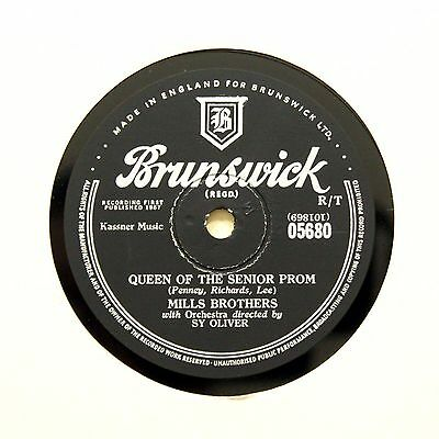 """THE MILLS BROTHERS """"Queen Of The Senior Prom"""" (EE+) BRUNSWICK 05680 [78 RPM]"""
