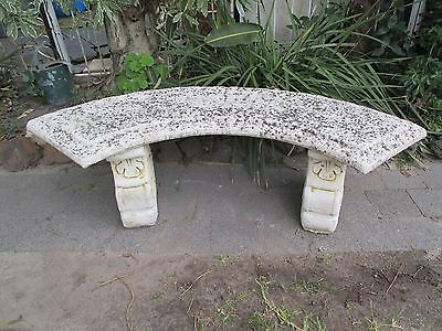 Concrete bench seat.