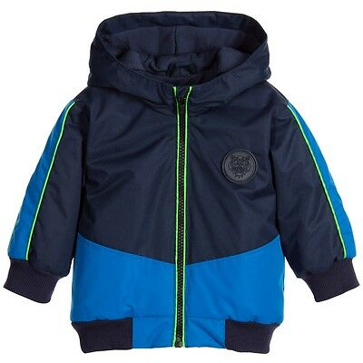 Kenzo Kids Baby Boys Blue Smiley In The Space Jacket 18 Months