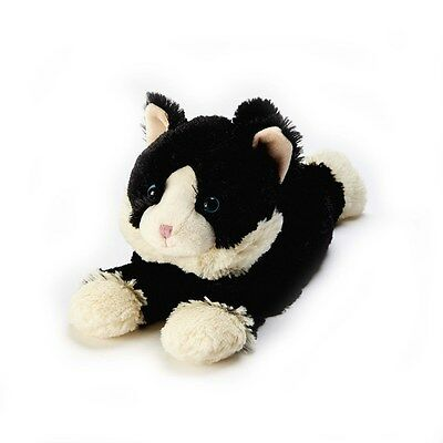 Warmies Cozy Plush Cuddly LAYING BLACK CAT Lavender Scented Microwavable Toy