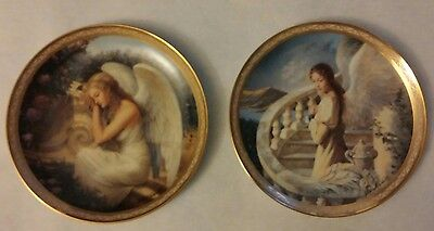 Serenitys Garden & Harmonys Embrace Angel Plate 1st & 2nd by Edward Tadiello