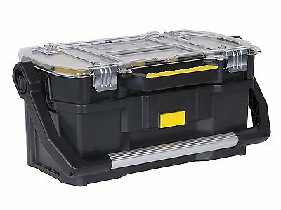 Tool Box Stanley Organiser Carry Case 19 Inch Tote Tray 2 In 1 Heavy Duty DIY