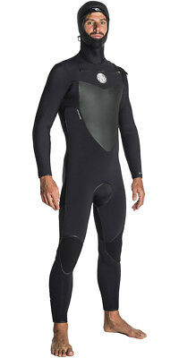 Rip Curl Flash Bomb 6/4 Hooded Chest Zip Wetsuit 2018 - Black