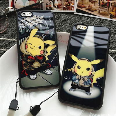USA Ultrathin Cartoon Pokemon Pikachu Soft Phone Case For iPhone 5 6 6s plus