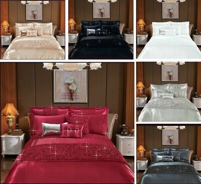 Luxury 3 Piece Quilt Cover Duvet Cover Set Sequence Bedding Set 2 Pillow Covers