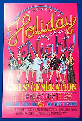 SNSD Girls' Generation - Holiday Night Holiday Ver. Official Poster New K-POP