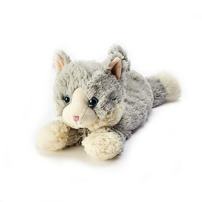 Warmies Cozy Plush Cuddly LAYING GREY CAT Lavender Scented Microwavable Toy
