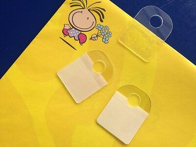 100 Hole Style Hang Tab with Adhesive Hook Style. Merchandise Price or stockTags