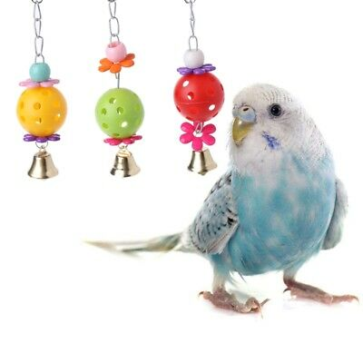 Pet Parrot Bird Bites Climb Chew Toys Bell Swing Cage Hanging Cockatiel Parakeet