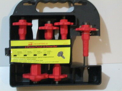 Punch and chisels 6 pieces set