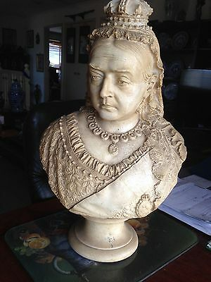 Robinson & Leadbeater Parian Jubilee Bust of Queen Victoria, England, 1887
