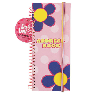 Dottie Loves Spiral Bound Address Book with Colorful Pens Perfect Small Gift