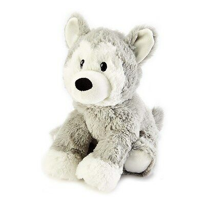 Warmies Cozy Plush Cuddly Soft Fur HUSKY Lavender Scented Microwavable Toy