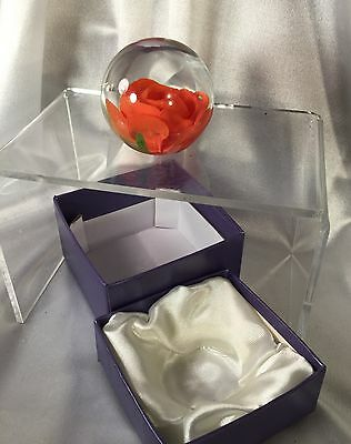 Rose paperweight,NEW with box.