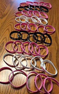 Zumba 50 NWOT Party In Pink BRACELETS  set lot new Pink Black White Huge Lot