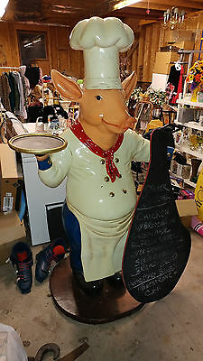 Chef Pig Menu Board Restaurant Advertising