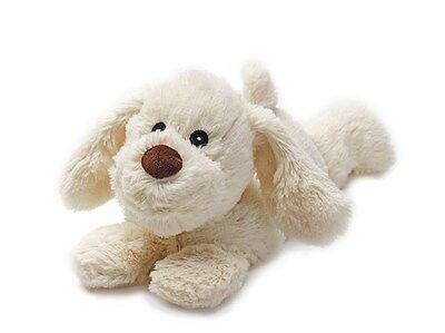 Warmies Cozy Plush Cuddly LAYING CREAM DOG Lavender Scented Microwavable Toy