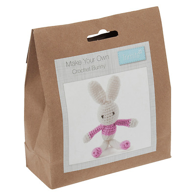 Crochet Kit - Pink Bunny - Trimits - GCK030