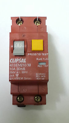 Clipsal Combo RCD/MCB Double Pole Circuit Breaker / Safety Switch 4EBEM210/30