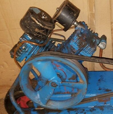 Emglo LU 4 cylinder 21.5 cfm air compressor pump w unloader for continuous run.