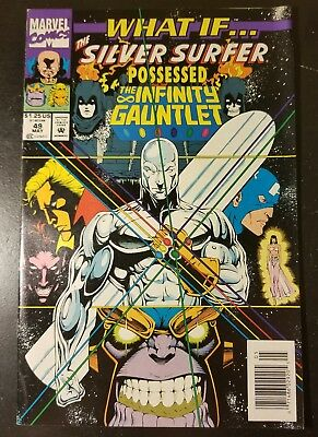 *what If...? #49**(May 1993, Marvel)**silver Surfer Possessed Infinity Gauntlet*