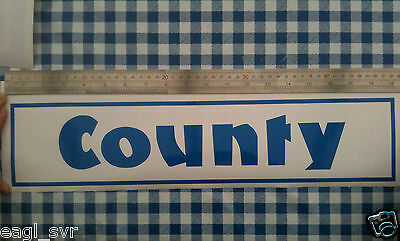Blue, Ford COUNTY tractor cab sticker