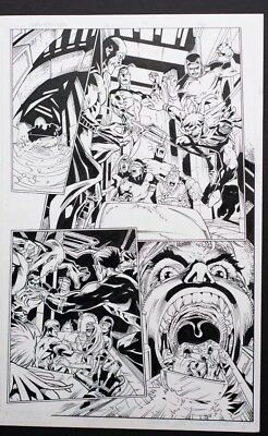 Marvel X Men Original Comic Art Page Lebow Cruz Try Out 11x17