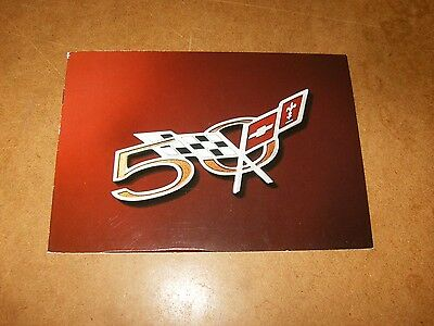 CHEVROLET CORVETTE 50TH ANNIVERSARY SPECIAL EDITION catalogue brochure 2003 FR