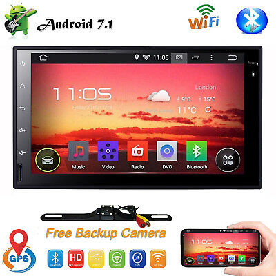 7'' Inch Double 2DIN Android Stereo Car No DVD Player GPS Navi Touch Radio +CAM