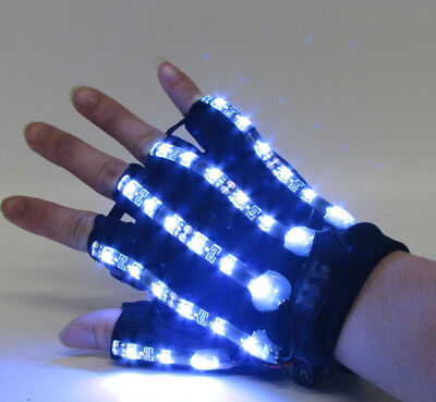 2017 Halloween LED Light Gloves Cosplay Gloves Props Glowing gloves Fashion New