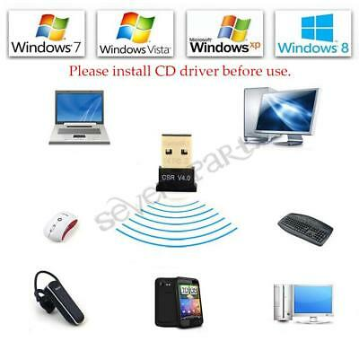 Mini Clé USB 2.0 Bluetooth V4.0 Dongle Sans fil Adaptateur EDR PC Win7 8 10