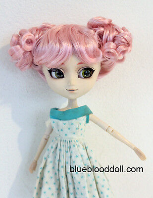 "For Pullip 9-10"" doll head pink buns style wig Soom Feeple Loongsoul ship US"