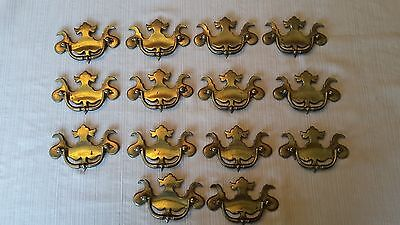 Lot of 14  vintage style drawer pull handles