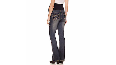 045ca224c422f Tala Maternity Jeans Bootcut Jeans Medium Embellished Bling Overbelly