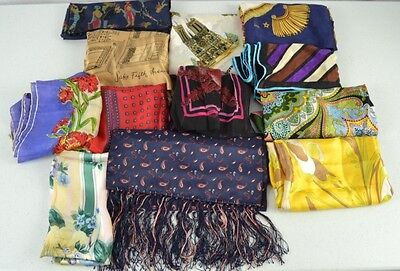 VINTAGE SILK SCARVES Lot 12 Baar Saks Echo Vera Patricia Paris,Don Loper Ashear