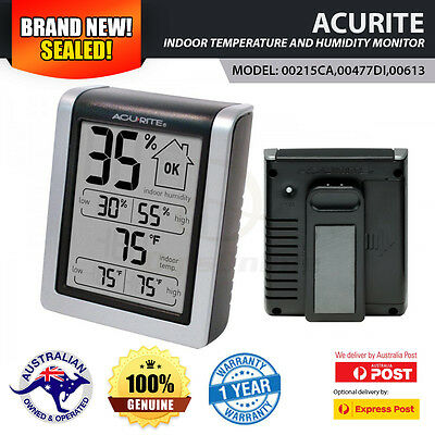 AcuRite Indoor Temperature and Humidity Monitor for Home House Garage Shed