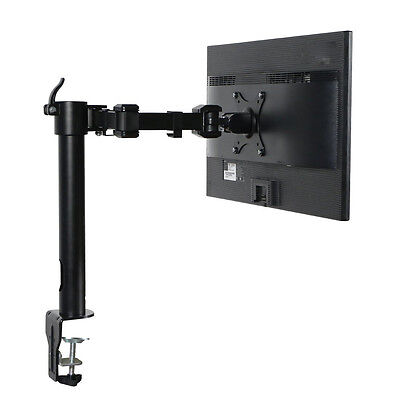 ThingyClub Heavy Duty Fully Adjustable Single Arm LCD LED Monitor Desk Mount